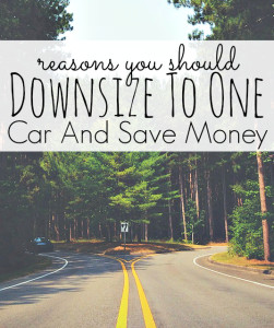Downsizing to one car from two cars