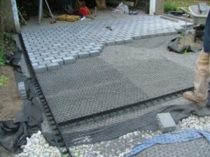 driveway paver installation