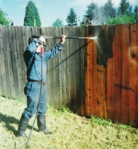 Stain Removal from Fences